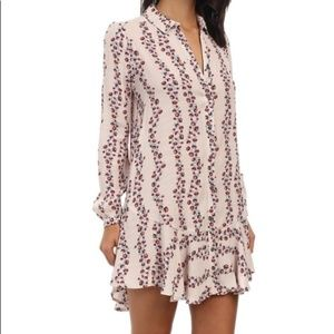 Free People Floral Tiered Button-Front Shirtdress